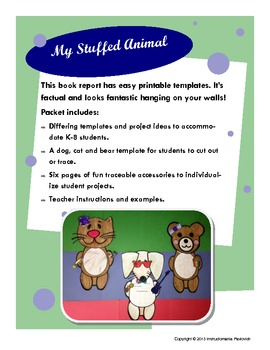 Cut Out Animals Writing Project with Cute Personalized Templates