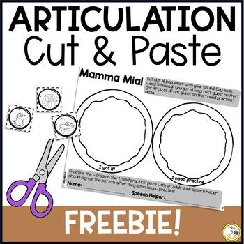 Cut & Paste Articulation-FREEBIE