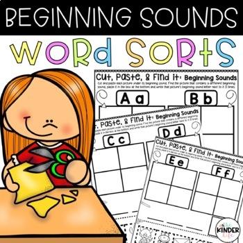 Cut, Paste & Find It: Beginning Sounds