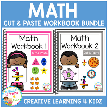 Cut & Paste Math Workbook Bundle Autism