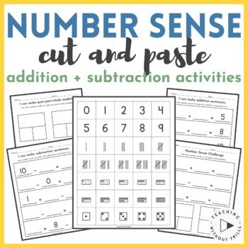 Cut & Paste Number Sense Activities: Addition, Subtraction