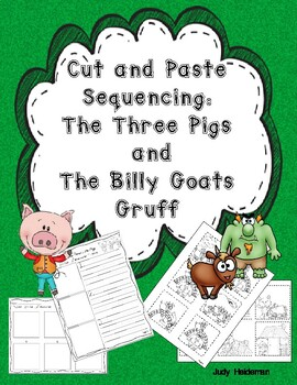 Cut & Paste Sequencing: The Three Little Pigs and The Bill