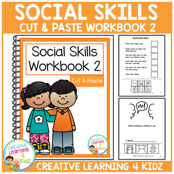 Cut & Paste Social Skills Workbook 2 ABA Autism