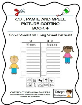 Cut and Paste & Spell Phonics Picture Sorting Worksheets-B