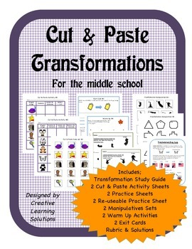 Cut & Paste Transformations for the Middle School