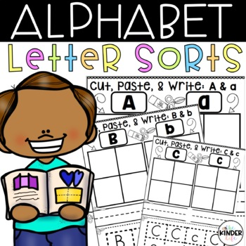 Cut, Paste, & Write: Uppercase and Lowercase Letters