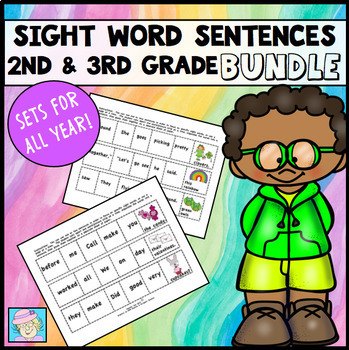 Cut-and-Glue Sight Word Sentences for Second and Third Gra
