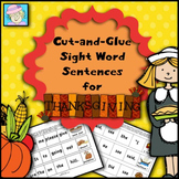 Sight Word Cut-and-Glue Sentences for Thanksgiving