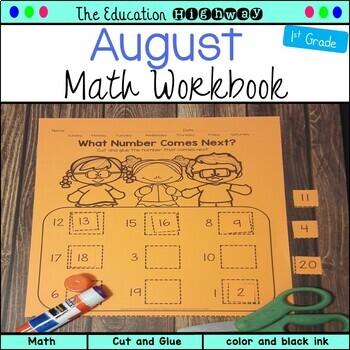 Cut and Glue Workbook: August