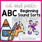 Beginning Sounds Activities Cut and Paste