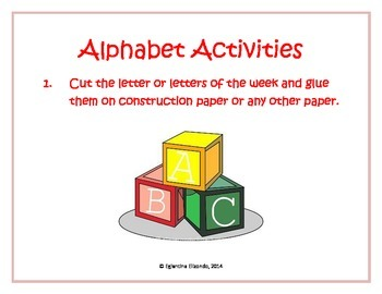 Cut and Paste Activity with English Alphabet