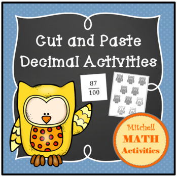 Cut and Paste Decimal Activities with a Fall Theme