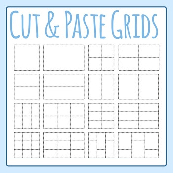 Cut and Paste Grids (Dashed / Dotted Lines) Clip Art Set f
