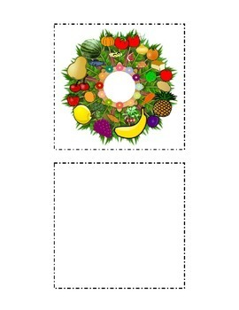 Cut and Paste Large Kindergarten Food Groups Wreath Arts a