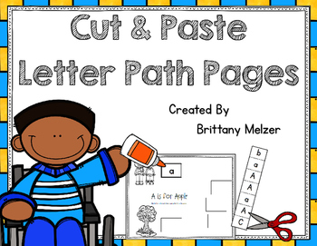 Cut and Paste Letter Path Pages