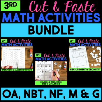 Cut and Paste Math Activities for Third Grade {Most Standa
