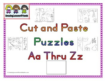 Cut and Paste Puzzle Aa Thru Zz