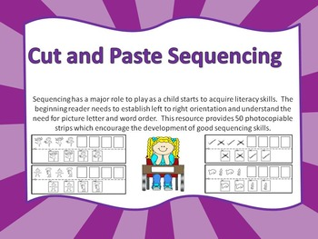 Cut and Paste Sequencing Patterns Worksheets