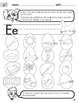 Cut and Paste Short E Worksheet with Instructions translat