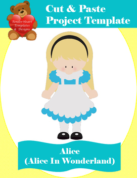 Cut and Paste Template - Alice In Wonderland
