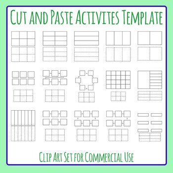 Cut and Paste Templates Clip Art for Commercial Use