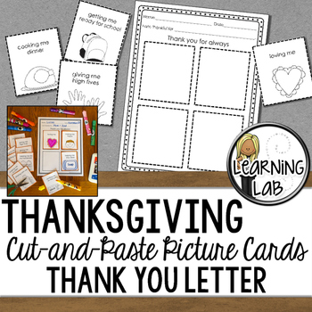 Cut and Paste Thank You Letter Picture Cards