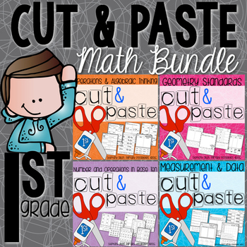 Cut and Paste Worksheets for First Grade BUNDLE