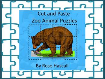 ZooActivities Cut and Paste Puzzles for Centers or Station