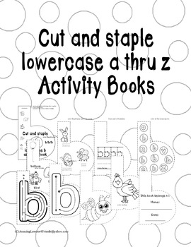 Cut and Staple Lowercase b Activity Book