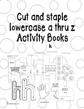 Cut and Staple Lowercase h Activity Book