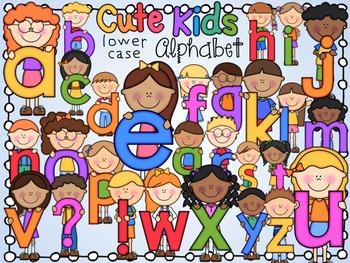 Cute Alphabet Kids- Lower case letters