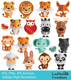 Cute And Wild Animals Digital Clip Art