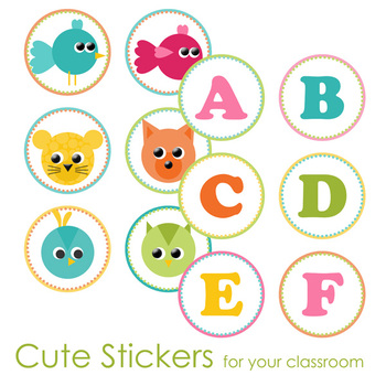 Cute Animal / ABC Stickers