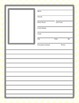 Cute Binder Template Pages - Yellow and White Chevron