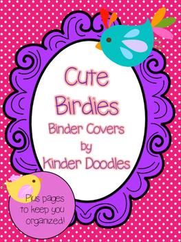 Cute Birdies Binder Covers & Pages ~ Editable