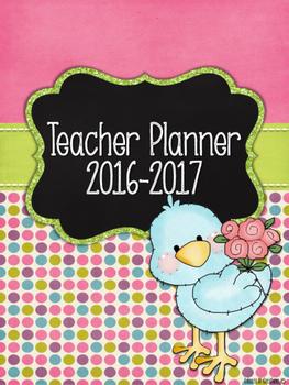 Cute Birds Teacher Planner Bundle