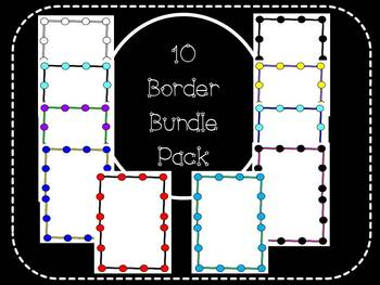 Cute Border Bundle Pack - Ten Colorful Borders!