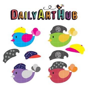 Cute Boy Birds Clip Art - Great for Art Class Projects!
