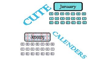 Cute Calendar Designs