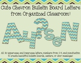 Cute Chevron Bulletin Board Letters
