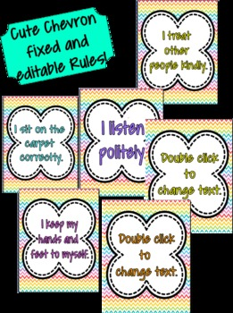 Cute Chevron Rules **EDITABLE