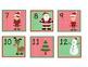 Cute Christmas December Calendar Numbers