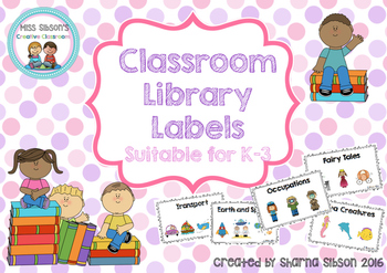 Cute Classroom Library Labels