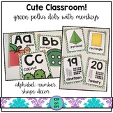 Cute Classroom! (monkey alphabet and number decor)