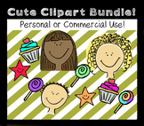 Cute Clipart Bundle - Personal or Commercial - over 50 clips!