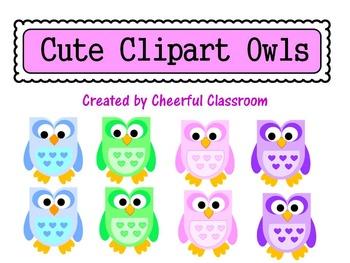 Owls (Cute Clipart)
