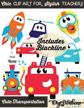 Cute Clipart for teachers: Transportation