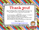 Cute & Colorful Thank You Notes FREEBIE