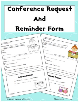 Cute Conference Request and Reminder Form in Color and Bla
