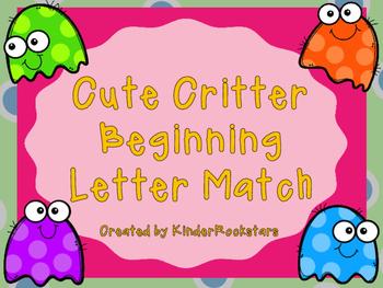 Beginning Sound Match Cute Critter